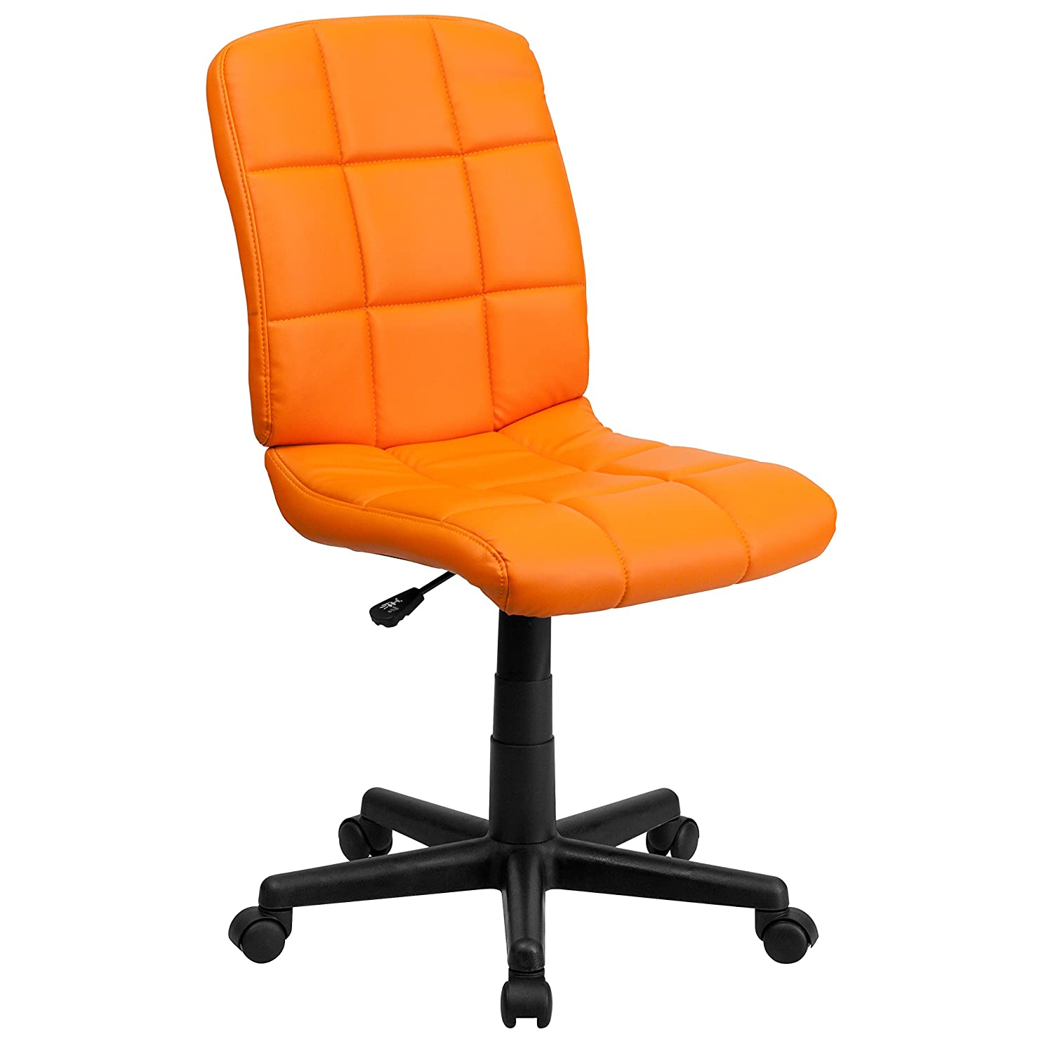 Flash Furniture Mid-Back Orange Quilted Vinyl Swivel Task Office Chair