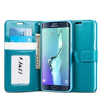 great fit d158c 32953 J&D Case Compatible for Galaxy S6 Edge Plus Case, [Wallet Stand] [Slim Fit]  Heavy Duty Protective Shockproof Flip Wallet Case for Samsung Galaxy S6 ...