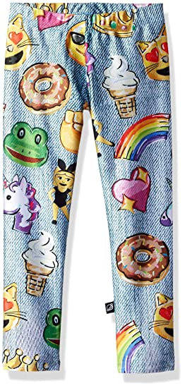 47526f6d851f2 Terez Girl's Emojis by Hand Legging: Amazon.co.uk: Clothing