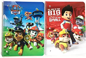 Nickelodeon Paw Patrol Ready for School Notebooks Bundle: 2 Items of Spiral Notebook For Kids