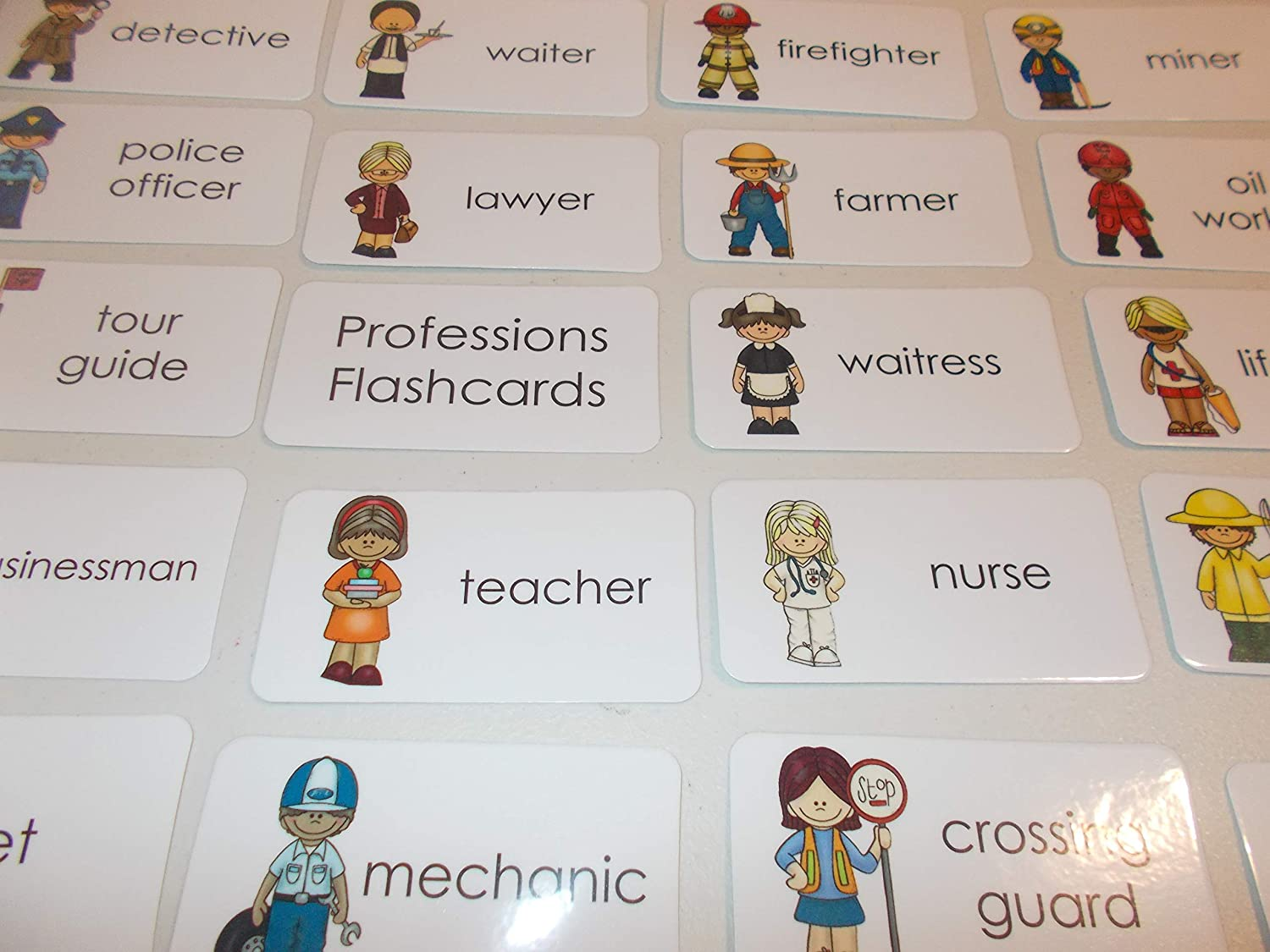 23 Laminated Preschool Professions Flashcards.