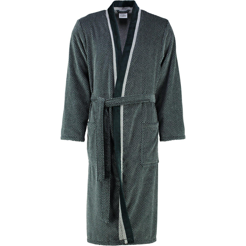 Cawö - Herren Velours Bademantel in Kimono Form, verschiedene Farbtönen (4839/GG8178)