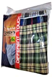 Different Touch 6XL Big & Tall Boxer Shorts Plaid 3 Pair True to USA Sizes