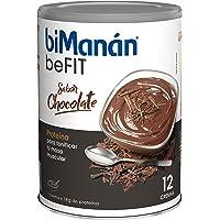 BiManán beFIT - Crema de Proteína Sabor Chocolate, para Tonificar tu Masa Muscular - 540g, 12 Raciones