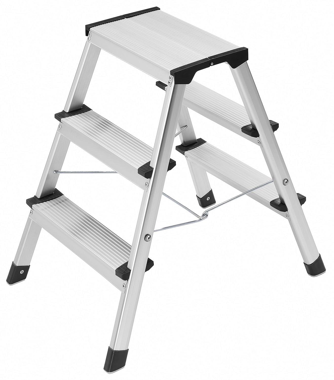 Step Ladder 3 Stool Hailo 4443-701 L90 Stepke Aluminum