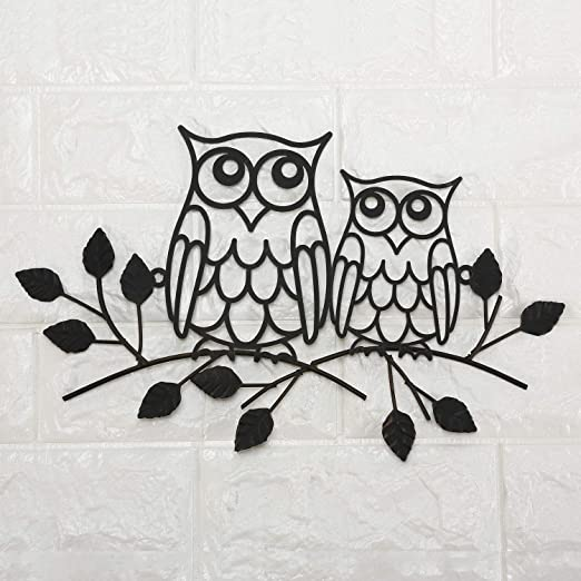 Mother Owl Love Black  white with Owl Fabric Craft Quilting Panel
