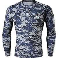 Nooz Men's Cool Dry Compression Baselayer Long Sleeve T Shirts