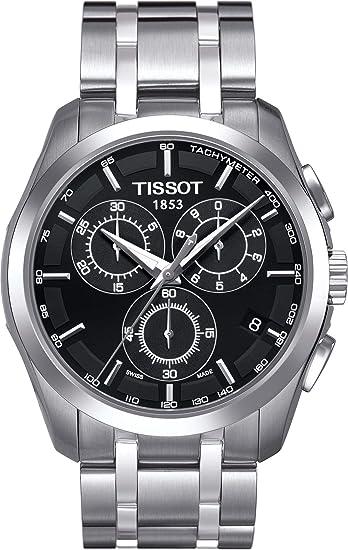 Tissot T0356171105100 - Reloj analógico de caballero de cuarzo con correa de acero inoxidable plateada: Amazon.es: Relojes
