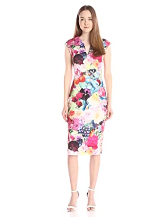 Ted Baker Womens Odeela Floral Swirl-Print Sheath Dress
