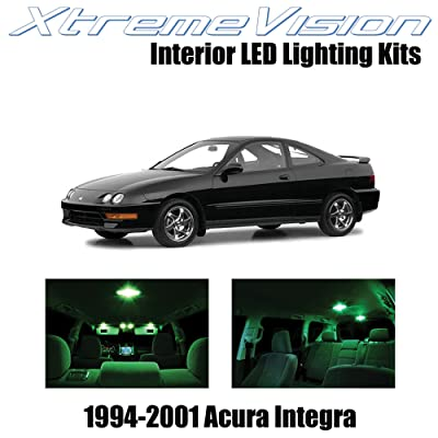 Xtremevision Interior LED for Acura Integra 1994-2001 (6 Pieces) Green Interior LED Kit + Installation Tool: Automotive [5Bkhe1504452]
