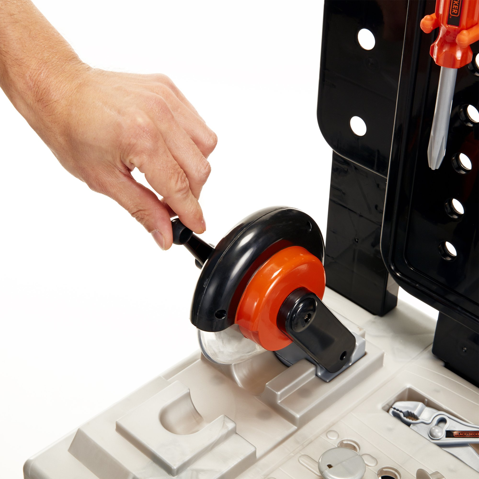 BLACK+DECKER 71382 Jr. Mega Power N' Play Workbench with Realistic Sounds! - 52 Tools & Accessories by BLACK+DECKER (Image #2)
