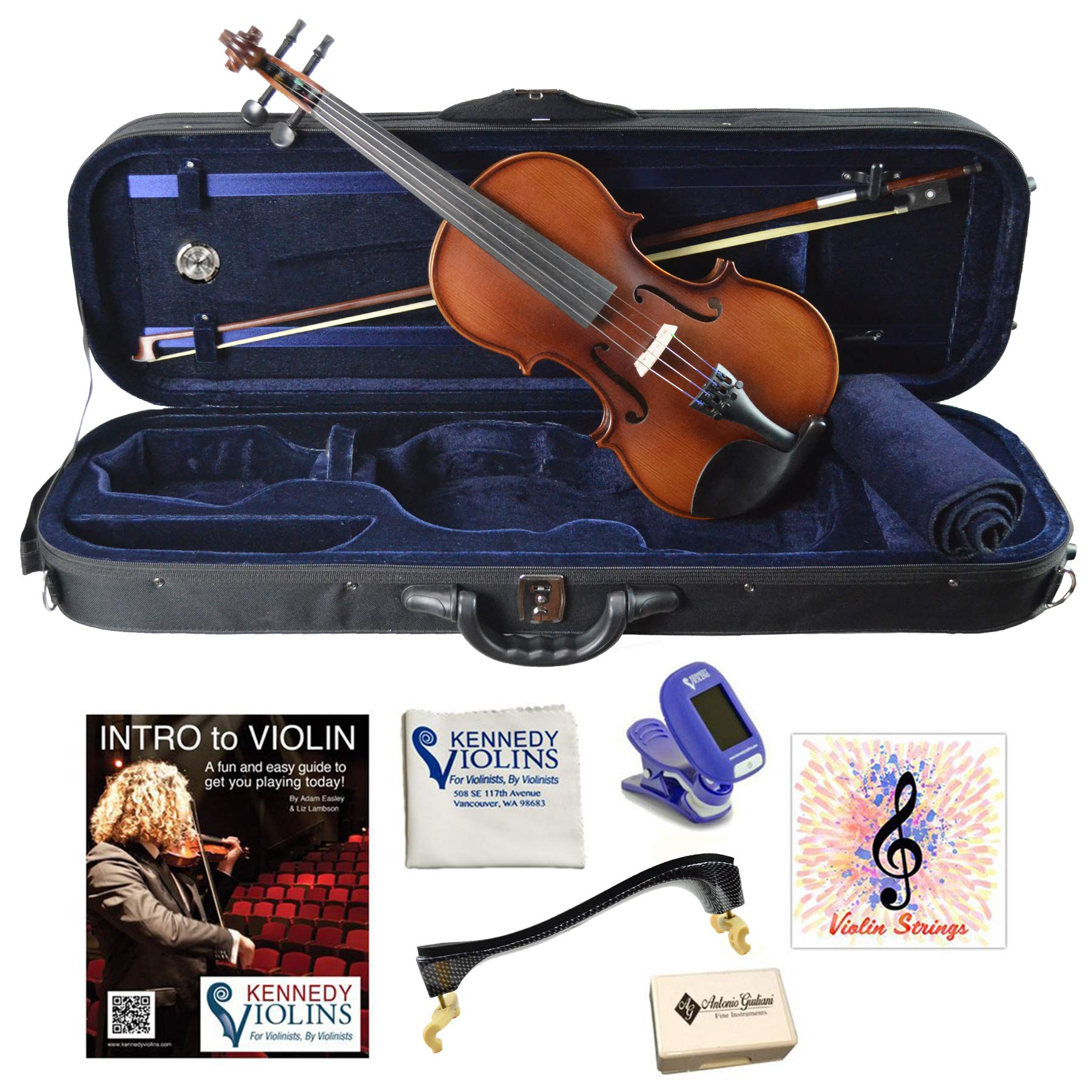 Bunnel Premier Student Violin Outfit (1/2) Size by Kennedy Violins