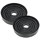 SPARES2GO Round Charcoal Vent Filter for Homeking Oven Cooker Hoods (Pack of 2)