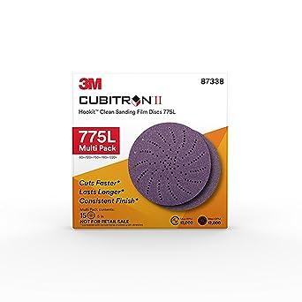 "3M Cubitron II Hookit Clean Sanding Film Disc 775L 6/""Grade 400 05059 50pcs"