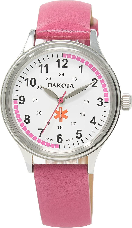 Dakota Women s Nurse Watch with Water Resistant Leather Band