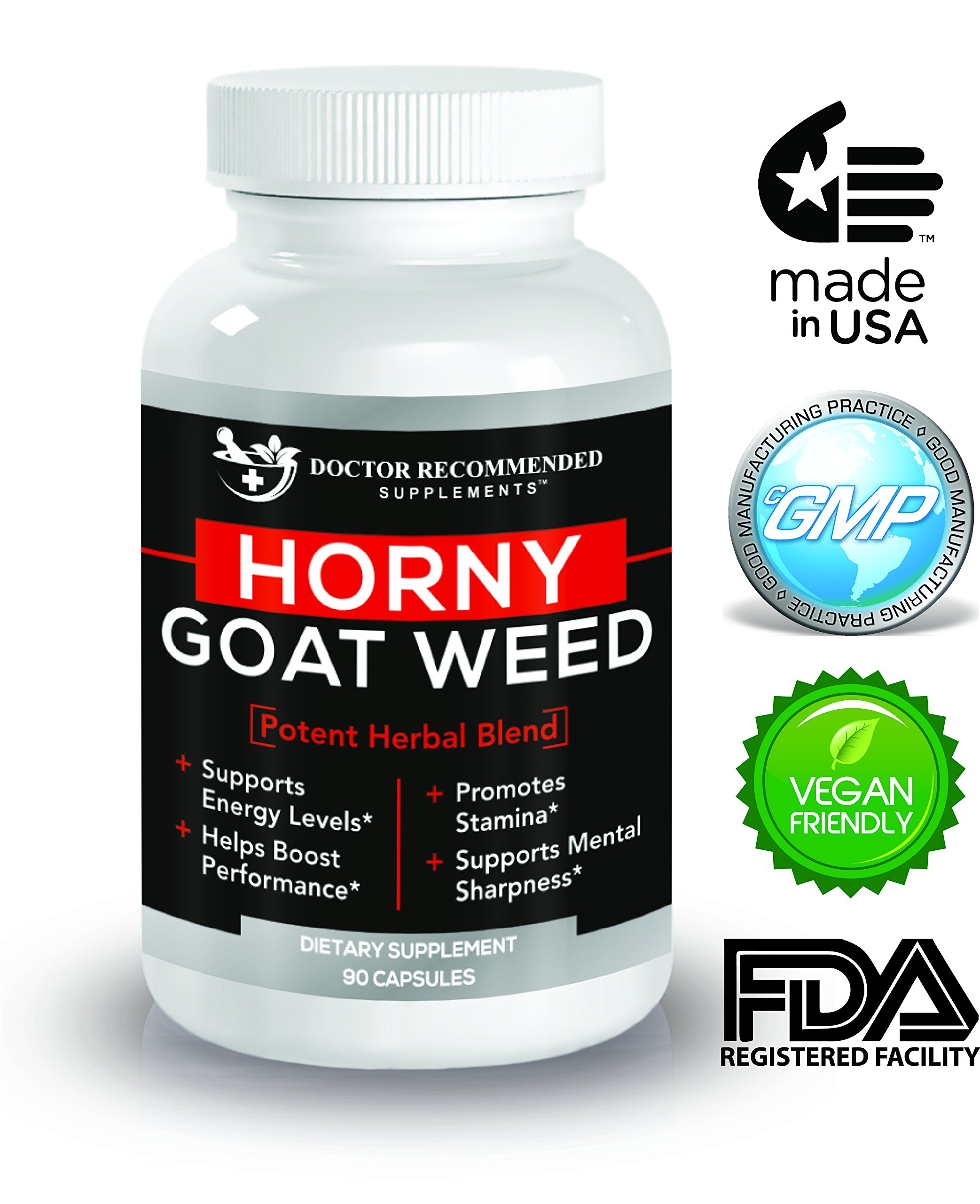 Doctor Recommended Horny Goat Weed - Maximum Male Performance - Intense Libido Boost - Post Workout Supplement - 120mg of Icariin Per Dose - Natural Herb Blend by DOCTOR RECOMMENDED SUPPLEMENTS (Image #9)