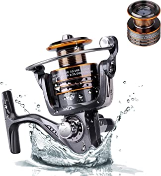 Plusinno carretes de la pesca de la serie TM Hongying Spinning Agua dulce Agua salada con 5,2: 1 Relación de engranajes de metal del cuerpo izquierda derecha intercambiable Carrete Pesca Spinning manija /