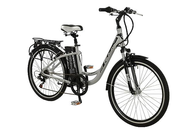 Falcon Jolt Womens Electric Bike Silver 16 5 Inch Aluminium Frame