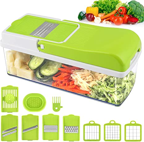 Picadora Cortadora Rebanador Manual Ensalada Vegetales Frutas Cocina Restaurant