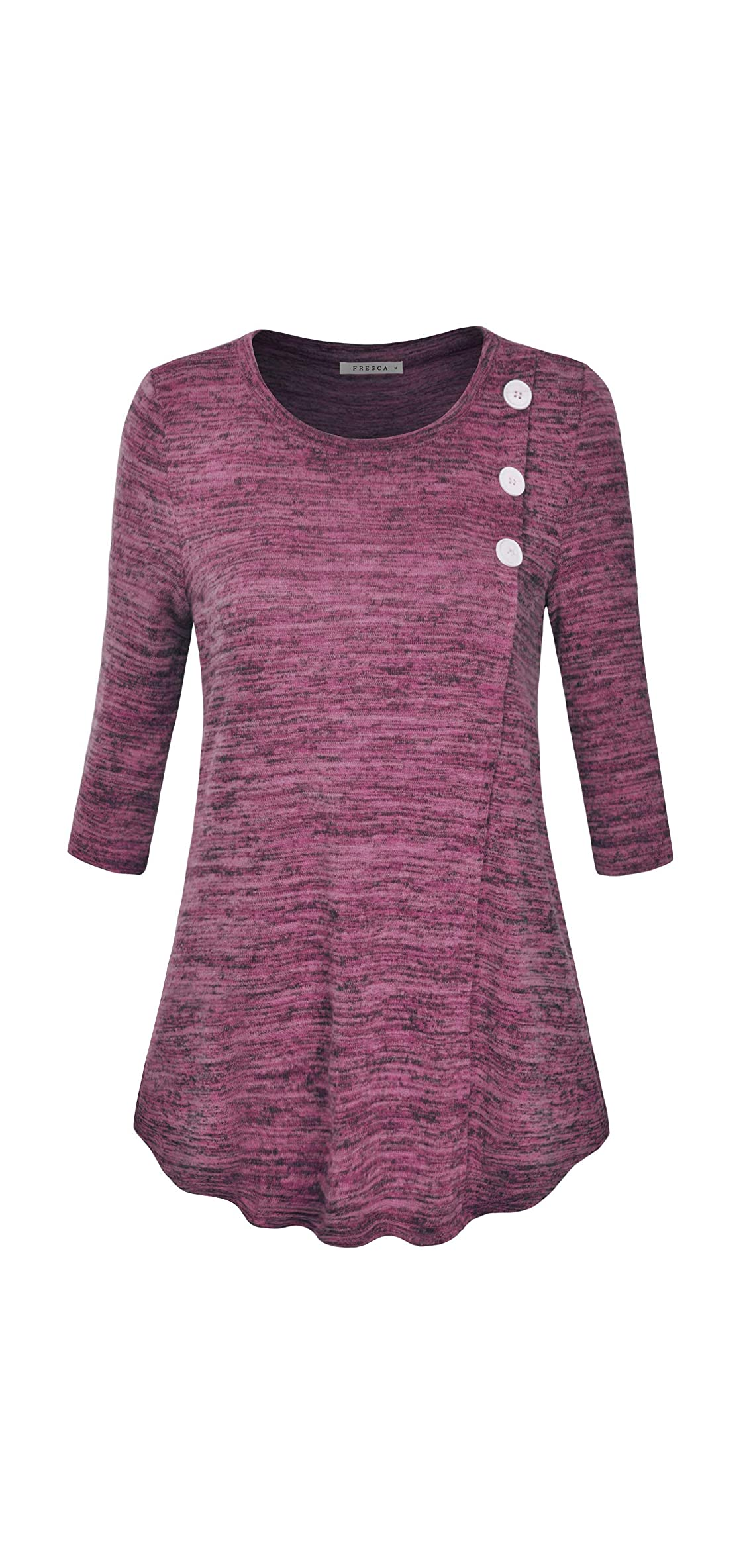 Womens Casual V Neck/crew Neck Stretchy Pleated Flowy