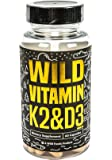 Wild Vitamin K2 & D3 Capsules with Black Pepper Extract 5000IU (One Bottle - 60 caps)