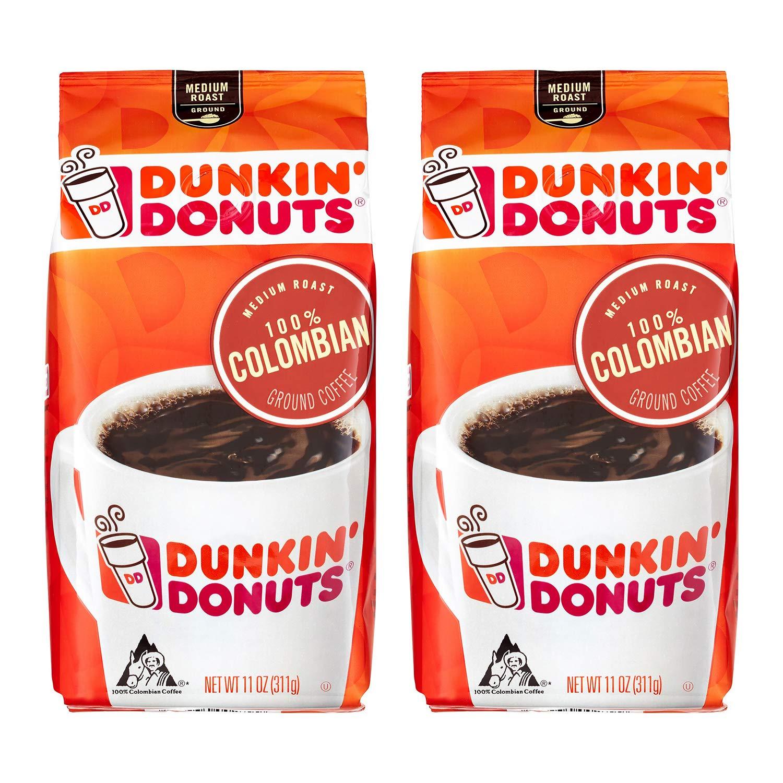 CDM product Dunkin' Donuts Colombian Ground Coffee, Medium Roast Colombia Kaffee, 311 Grams (11 Oz.) (2-Pack) big image
