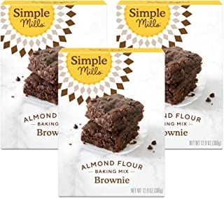 product image for Simple Mills Almond Flour Baking Mix, Gluten Free Brownie Mix, Easy to make in Brownie Pan, Chocolate Flavor, Made with whole foods, 3 Count (Packaging May Vary)