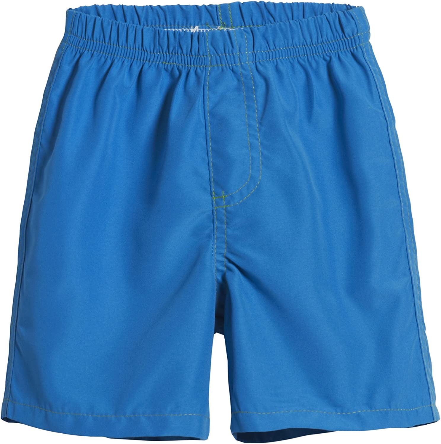 City Threads Boys Solid Swimsuit Swim Trunks with Elastic Waist Made in USA