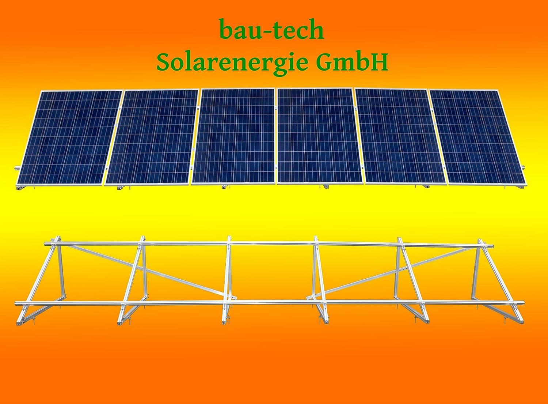 PV Solar Unterkonstruktion Aufständerung für 6 Module stehend von bau-tech Solarenergie GmbH