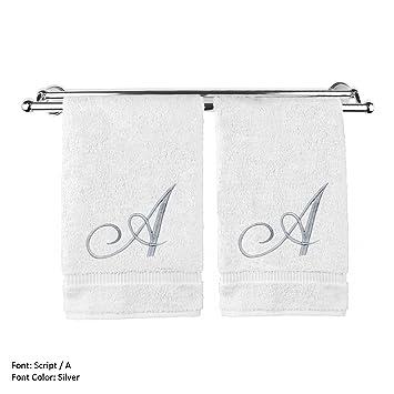 Monogrammed Hand Towels, Set of 2, Single letter Monogram, Embroidered  Towels, Monogrammed Towels, Embroidered Hand Towels, Monogram Towel