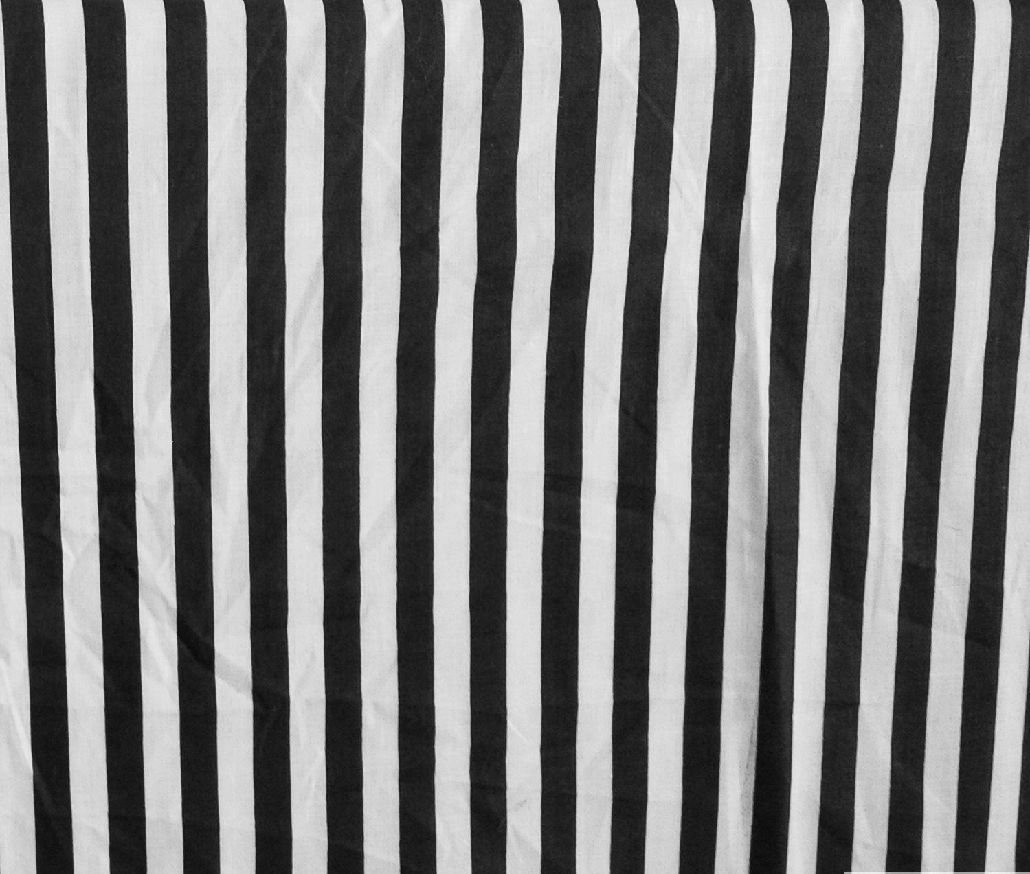 Stripes Small Black White Poly Cotton 58 Inch Fabric By the Yard (F.E.) by The Fabric Exchange   B00GWU4Z6W