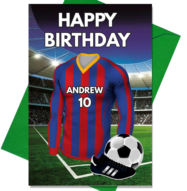 Personalizado Barcelona Fútbol Tarjeta de cumpleaños - cualquier ...