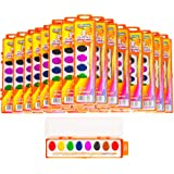 Creative Kids Bulk Classroom Watercolor Paint & Brush Sets – 40 Palettes w/ 8 Bright, Vibrant Color Paints & Wooden Brushes for Preschool, Kindergarten, Grade School & Art Class Teachers