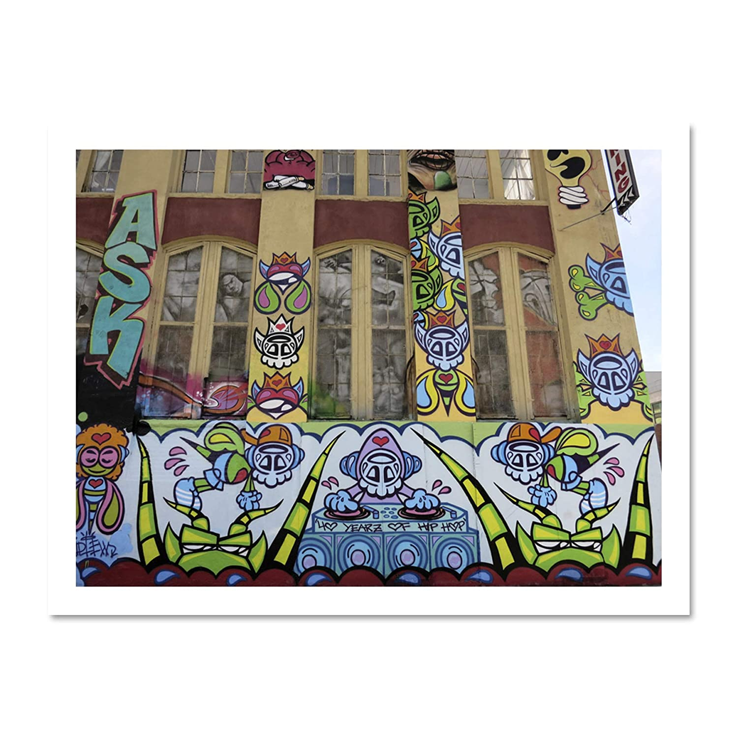 Amazon com: PHOTOGRAPHY GRAFFITI MURAL STREET WALL DJ DECKS