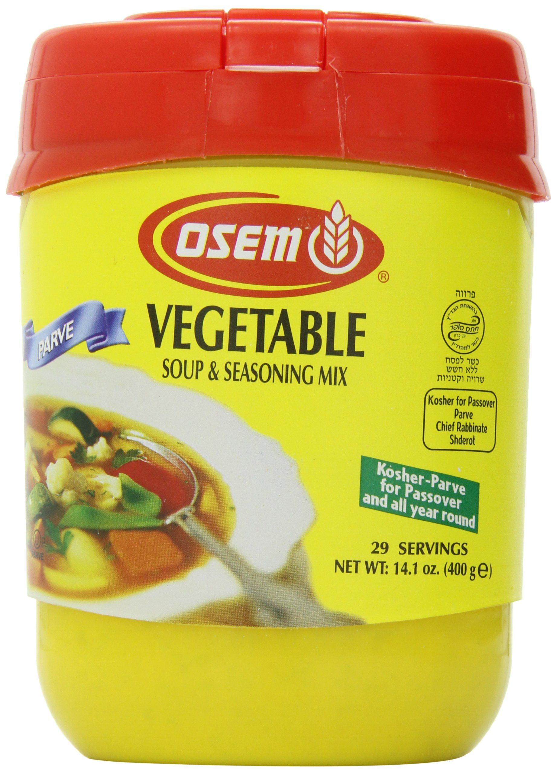 Osem Soup & Seasoning Mix, Vegetable, 14.1-Ounce Containers (Pack of 6)