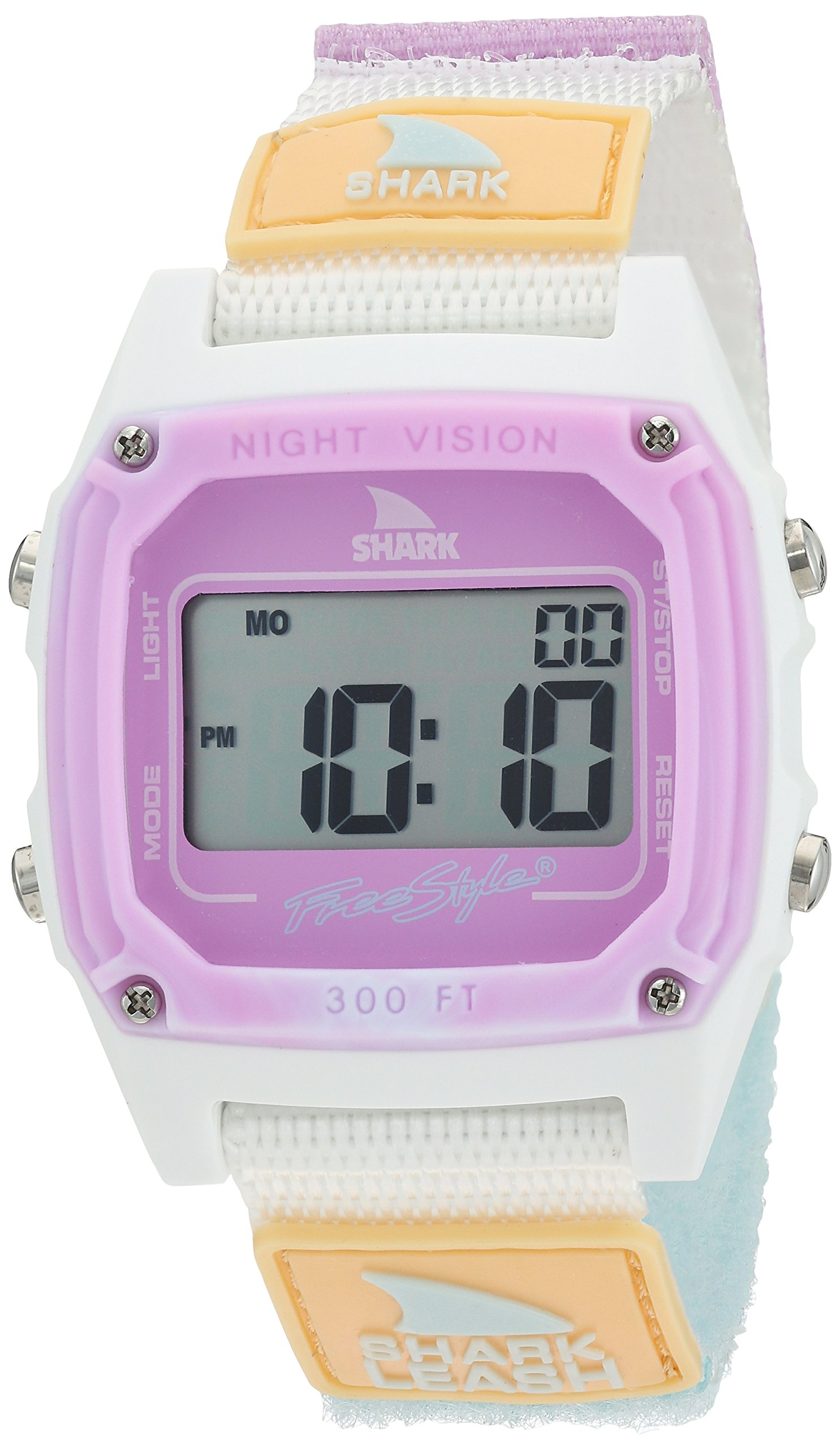 Freestyle 'Shark' Quartz Plastic and Nylon Sport Watch, Color White (Model: 10026835)