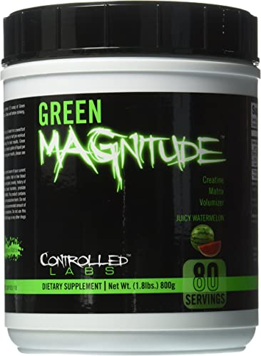 Controlled Labs Green Magnitude Creatine Matrix Volumizer, Juicy Watermelon, 800 Gram