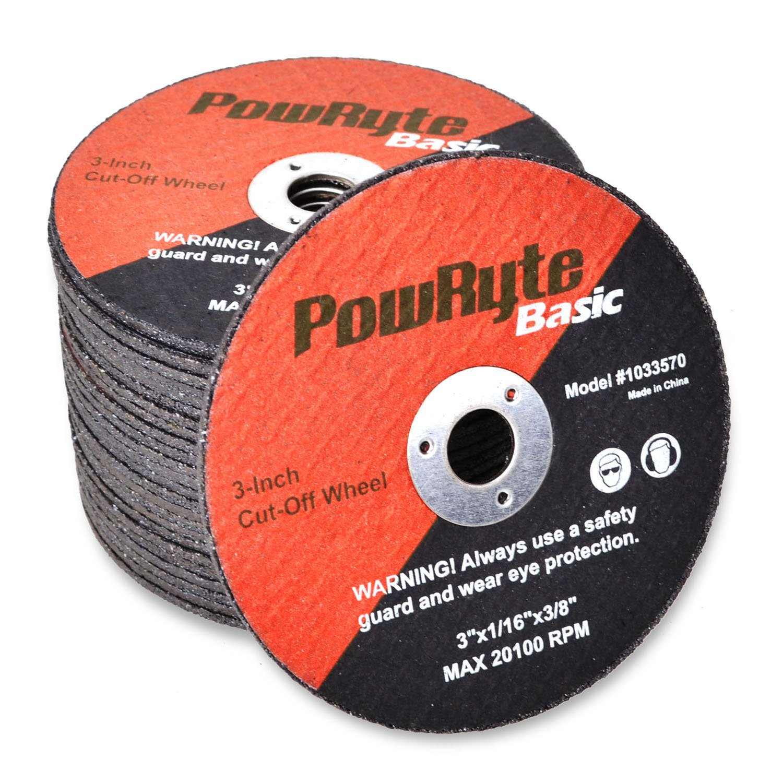 PowRyte 3-Inch Cut-Off Wheel Set - 25-Pack