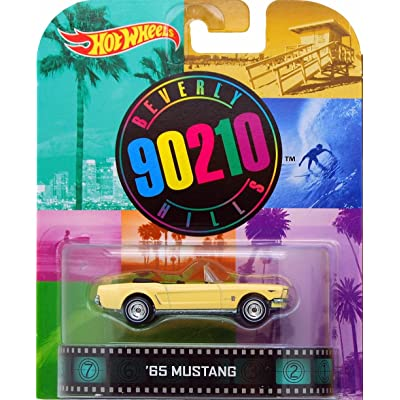 Hot Wheels Beverly Hills 90210 '65 Mustang 1/64 Die Cast Retro Series: Toys & Games