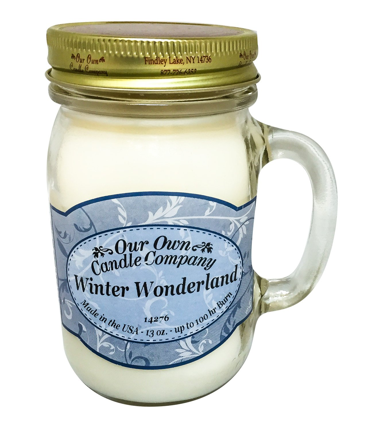 Our Own Candle Company Winter Wonderland Scented Ounce Mason Jar Lavorist