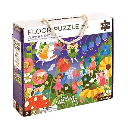 Amazon.com : Petit Collage Floor Puzzle, Fairy Garden : Baby