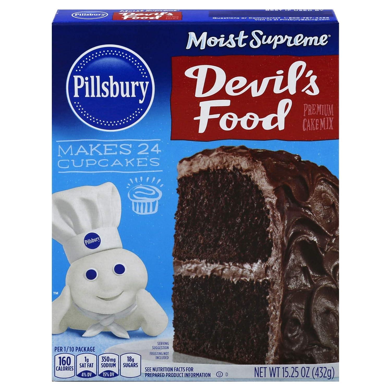 Pillsbury Moist Supreme Devil's Food Premium Cake Mix, 15.25-Ounce (Pack of 12)