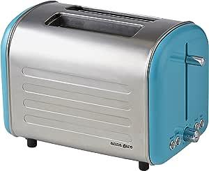 ANNA GARE Retro Toaster, Stainless Steel/Blue