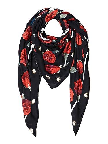 Guess Foulard Keffieh Femme Imprimé floral Noir  Amazon.co.uk  Shoes ... bb2ad9679a4