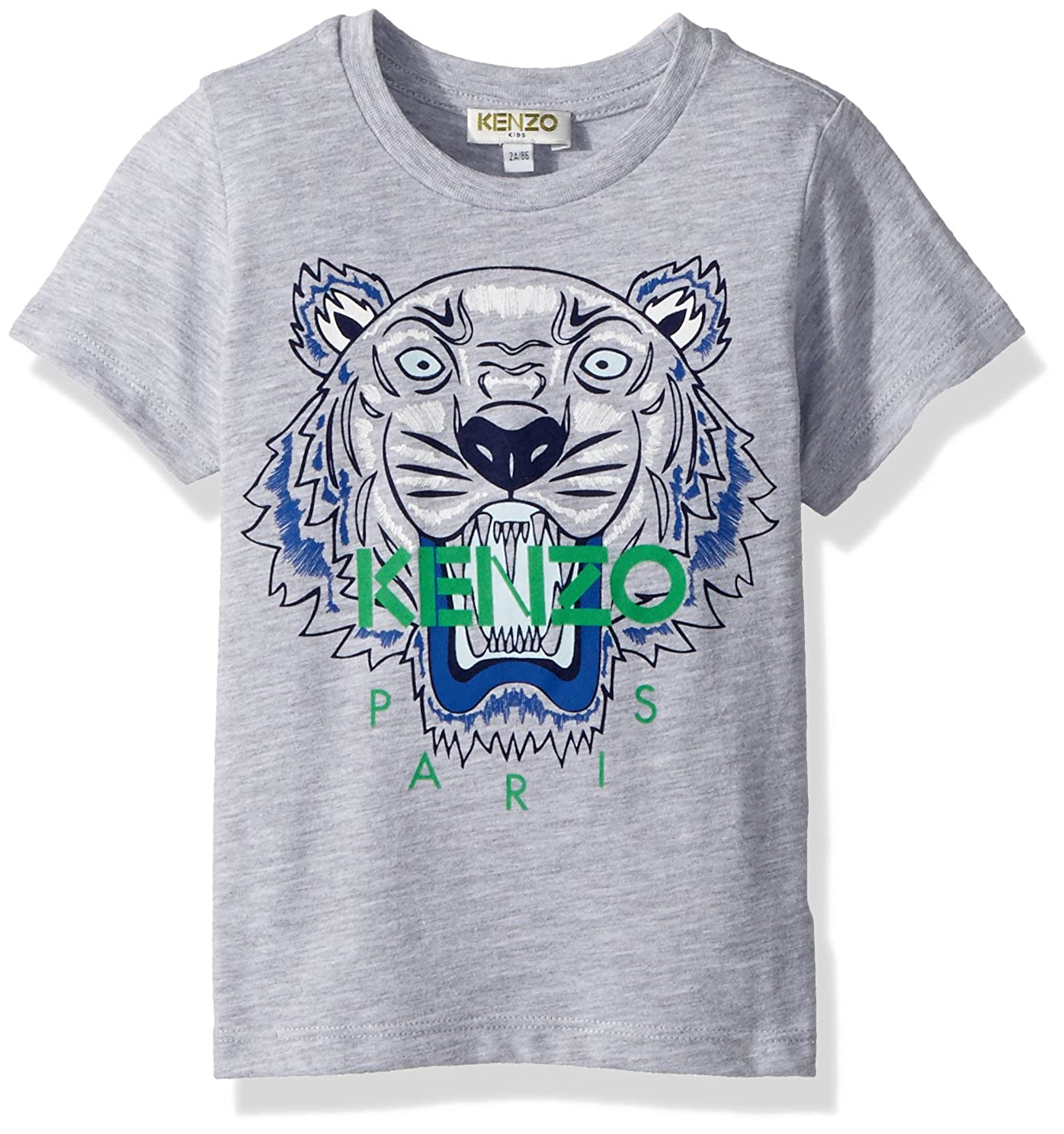 e07c2ea4 He\'s ready to roar in this Kenzo™ Classic Tiger Tee.Crew neckline. Short  sleeves. Brand name and tiger graphic at center front.Straight hemline.