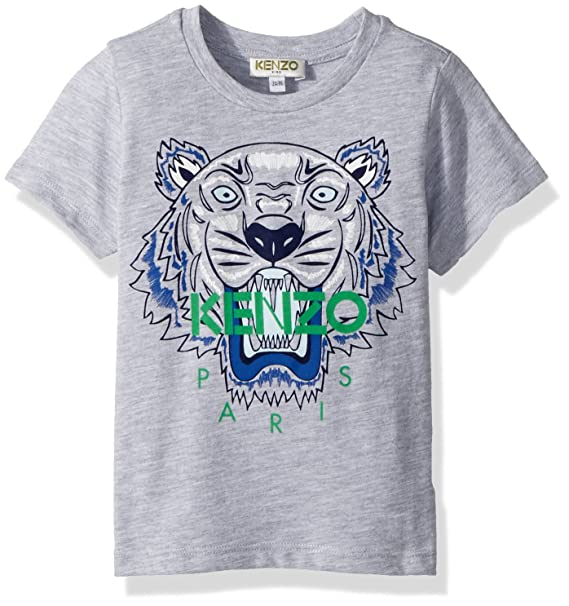 f59fe9ec Kenzo Kids Baby Girl's Tee Shirt Classic Tiger (Toddler/Little Kids) Marl  Grey