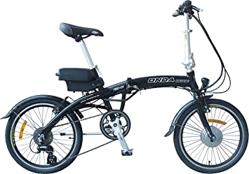 Bicicleta electrica plegable (negro)