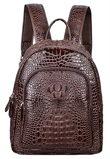 Amazon.com  PIJUSHI Women Leather Backpack Crocodile School Backpack ... bf7f0f3755c57