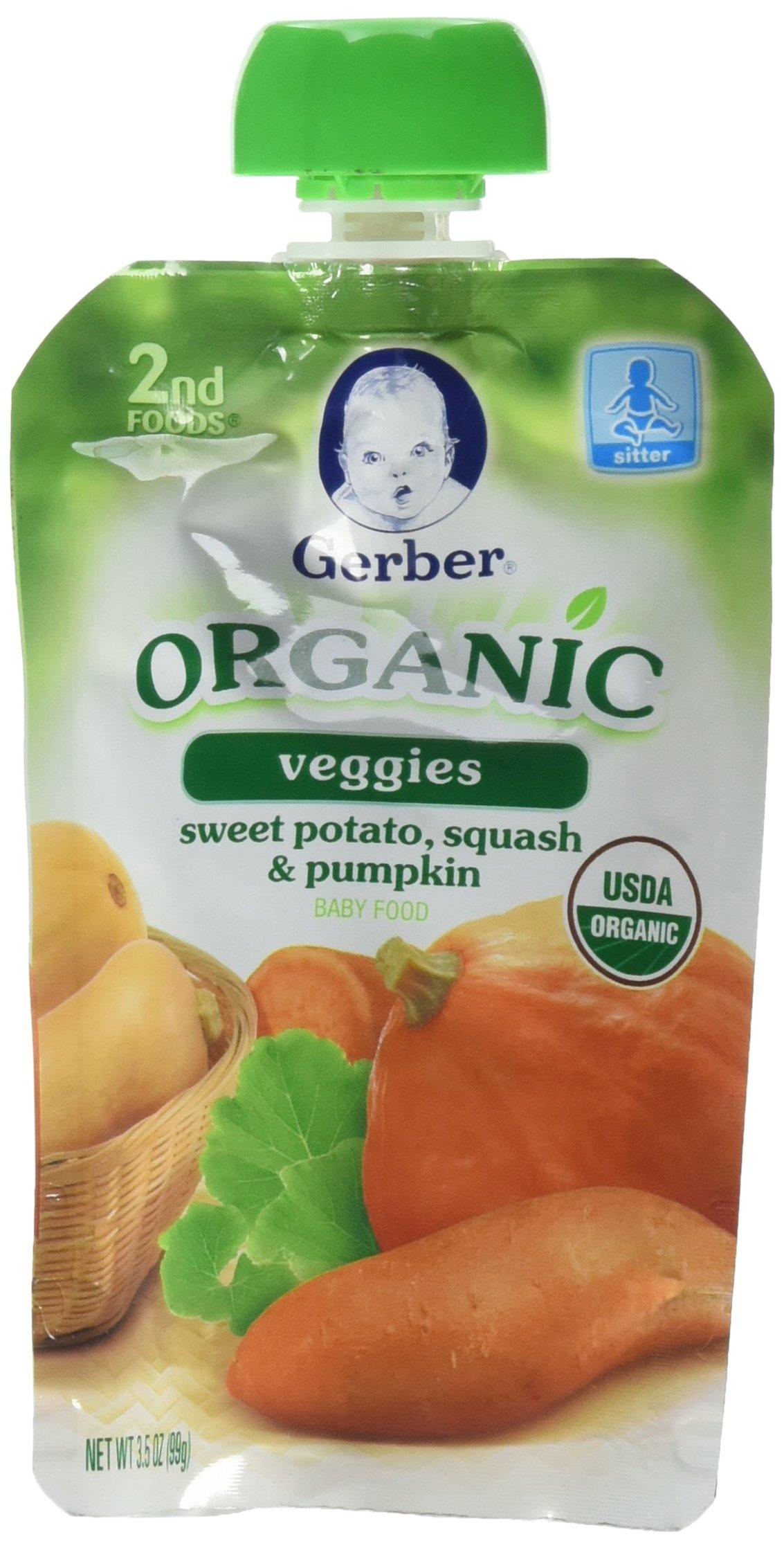 Gerber  Organic 2Nd Foods Baby Food, Veggies Sweet Potato Squash & Pumpkin, 3.5 oz