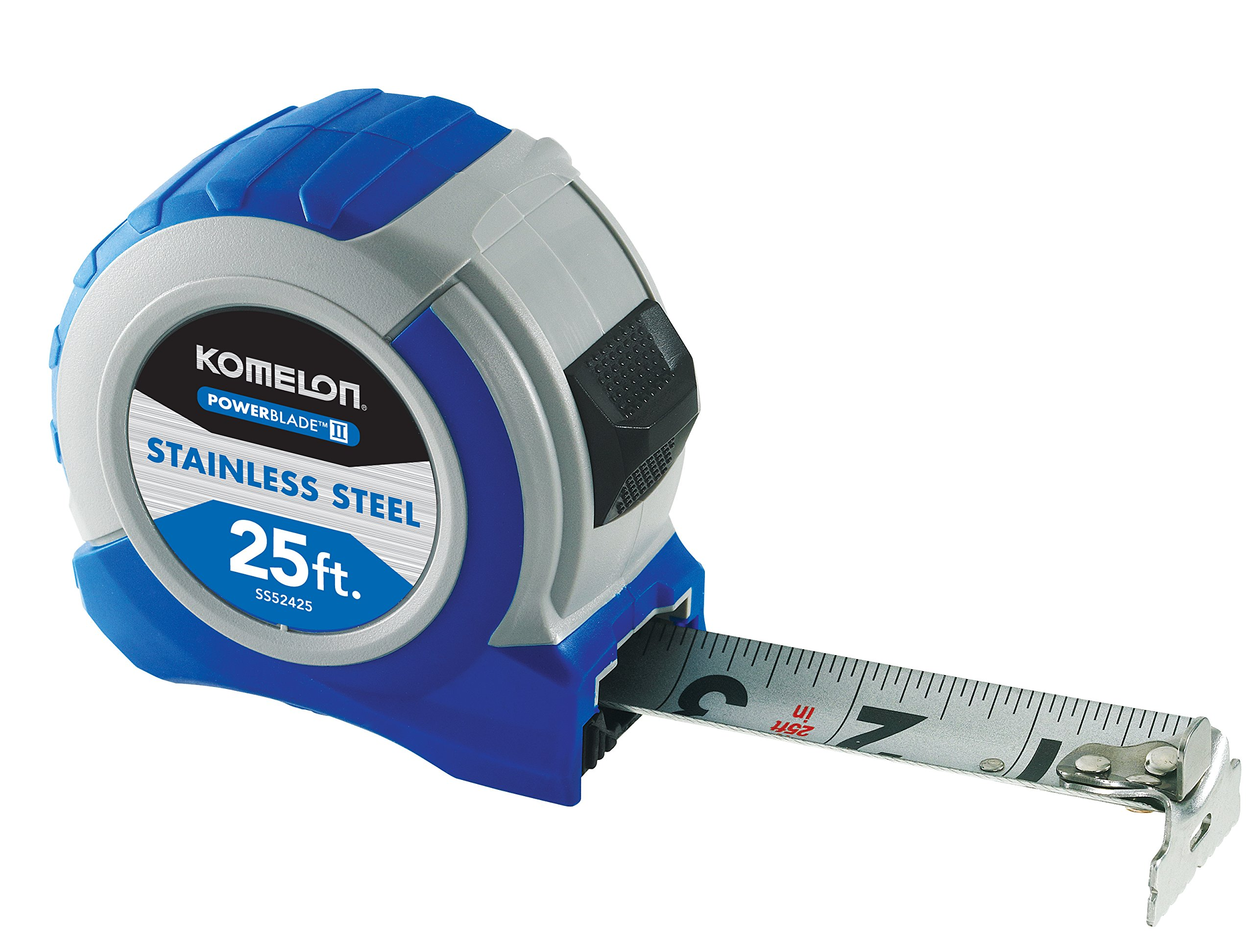 Komelon SS52425 25' x 1.06'' Powerblade II Tape Measure, Blue/Gray by Komelon